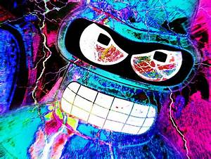 abstract bender cool neon colors image on