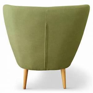 Fauteuil Scandinave Vert : fauteuil scandinave stuart tissu vert pas cher scandinave deco ~ Teatrodelosmanantiales.com Idées de Décoration