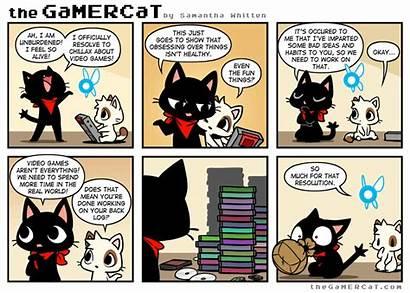 Gamercat Gamer Cat Comic Resolute Cats Comics