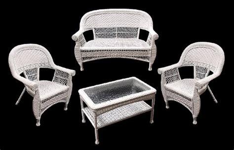black friday 4 white resin wicker outdoor patio set