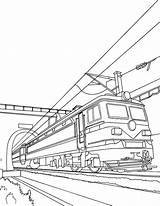 Coloring Train Tunnel Electric Pages Leaving Clipart Omalovanky Trains Hellokids Vlaky Printable Colorier Dopravni Colouring Books Transportation Doprava Drawings Drawing sketch template