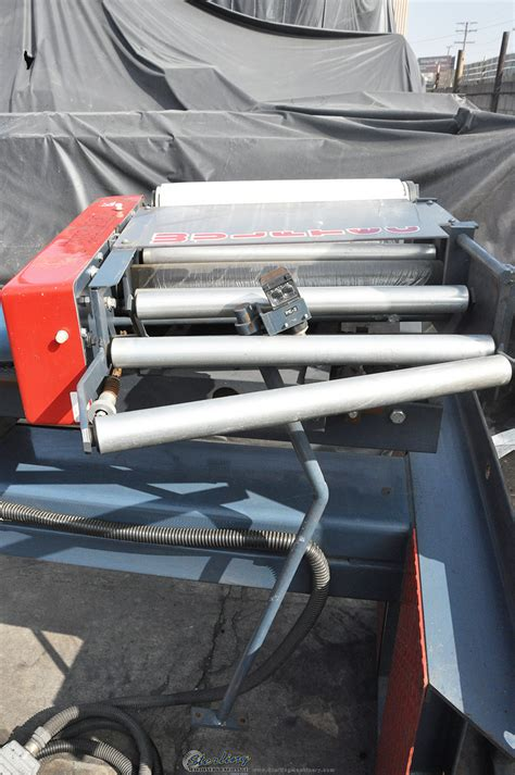 wulftec semi automatic floor mounted shrink stretch wrap rotary arm machine sterling machinery