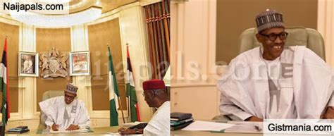 I Resumed Office Today by One President Buhari Looks Radiant As He Resumed
