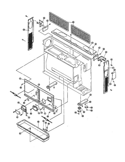 rinnai model rhfe fa furnace wall genuine parts