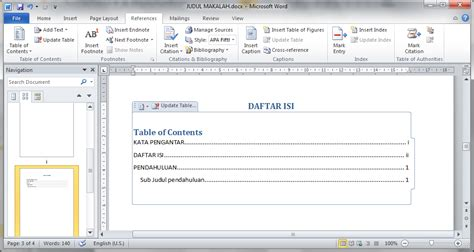 microsoft word table of contents best photos of microsoft word apa table content ms word