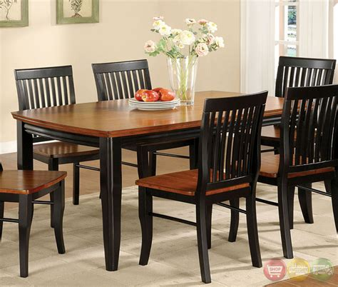 earlham  mission antique black  oak casual dining set