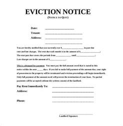 Blank Eviction Notice Template