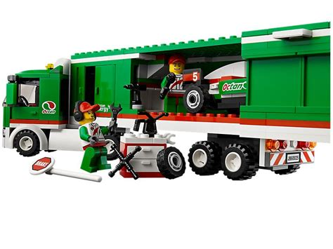 Lego Truck by Lego 60025 Grand Prix Truck I Brick City