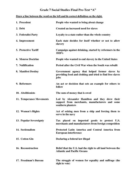 19 best images of 5 grade social studies worksheets free