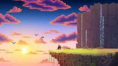 Pixel Wallpapers Pixels Landscape Nature Clouds Digital