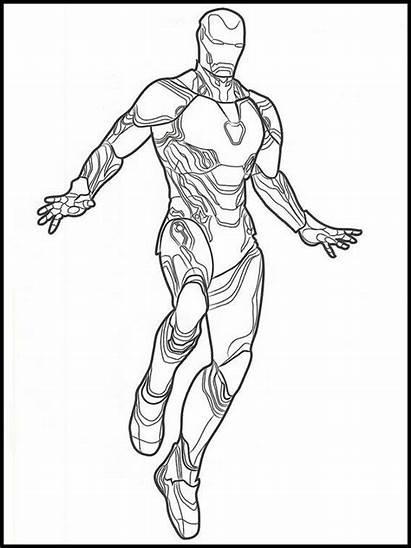 Vingadores Colorare Avengers Colorir Desenhos Endgame Colorear