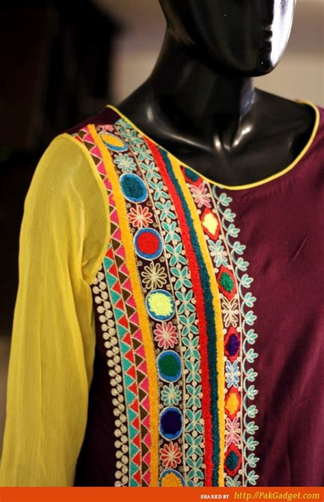 latest women fancy embroidered neck designs