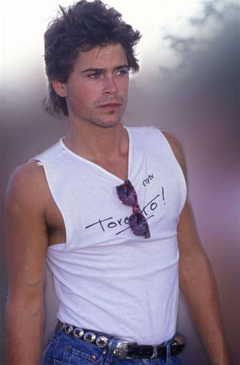 Rob Lowe 80s Style