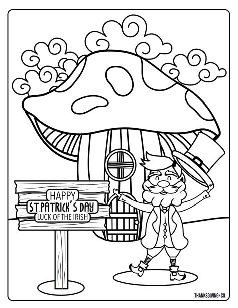 printable whimsical st patricks day coloring pages