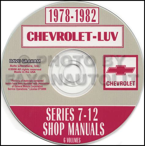 car service manuals pdf 1979 chevrolet luv electronic throttle control 1978 1982 chevrolet luv series 7 12 repair shop manual cd rom