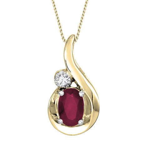 Oval Ruby And Diamond Pendant Necklace In 10k Yellow Gold. Sterling Silver Jewelry. Silver Hinged Bangle. Alzheimers Bracelet. Gold Medal Pendant. Hamsa Bracelet. Mom Lockets. Thin Necklace. Babys Rings