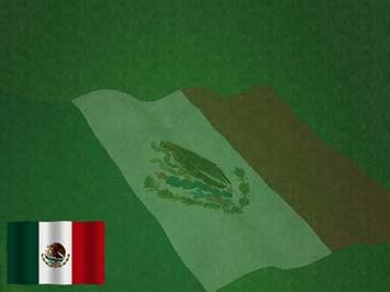 mexico flag  powerpoint template