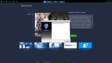 divergence template videostudio how to restore and or install divergence