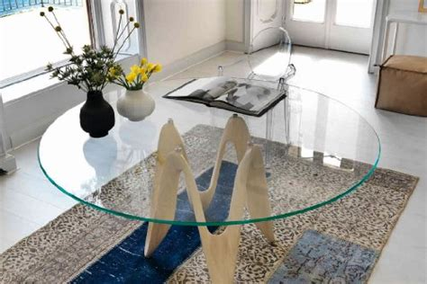 thick glass table top glass table top 42 round 1 2 thick flat edge polished
