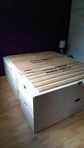 Ikea Hacks Podest : platform bed with storage made from kitchen cabinets diy projects for everyone ~ Watch28wear.com Haus und Dekorationen