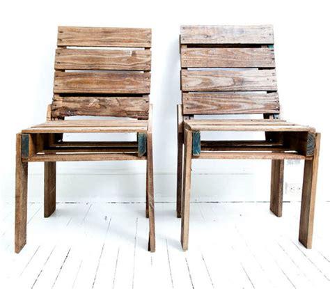 chaise en palette pallet chair cool material