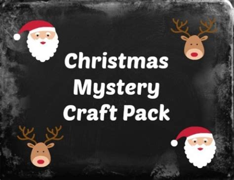 christmas mystery craft pack carefree crafts
