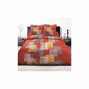 Parure Lit 220x240 : parure de lit housse de couette polycoton 220x240 cm ~ Teatrodelosmanantiales.com Idées de Décoration