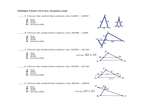 Proving Similar Triangles Worksheet With Answers  Agenda 1 Investigation Proving Triangles Are