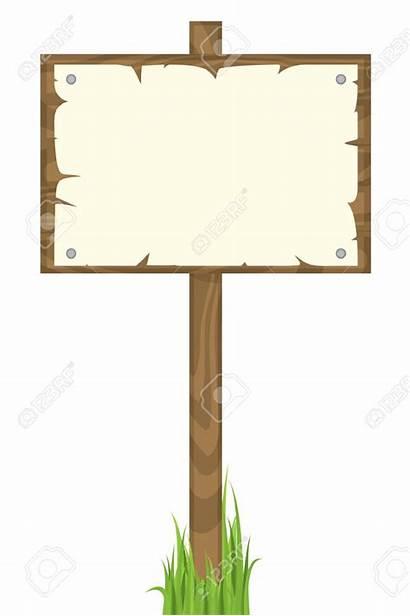 Blank Wooden Pancarte Clipart Vide Bois Clip