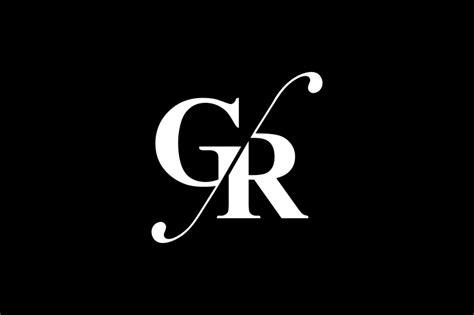 gr monogram logo design  vectorseller thehungryjpegcom