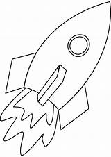Rocket Coloring Ship Spaceship Pages Drawing Simple Line Space Print Outline Cliparts Printable Colouring Cartoon Ships Mosaic Easy Drawings Rockets sketch template