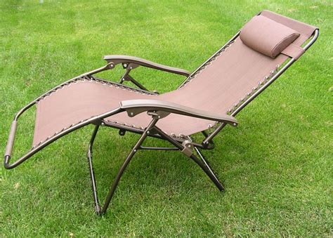 delux wide zero gravity lawn chair brown patio recliner