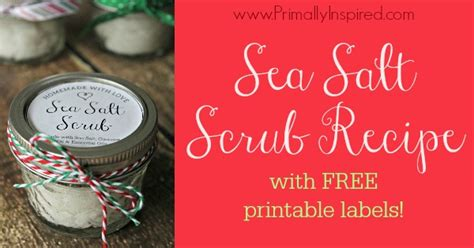 images  salt scrub labels printable sea salt