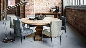 Table Salle A Manger Ronde : table salle a manger bois vieilli digpres ~ Teatrodelosmanantiales.com Idées de Décoration