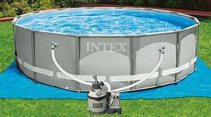 Filtre A Sable Intex 4m3 : piscine intex metal frame 4 27m x 1 22m filtration ~ Dailycaller-alerts.com Idées de Décoration