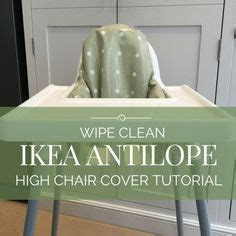 reversible high chair cover for the ikea antilop cover