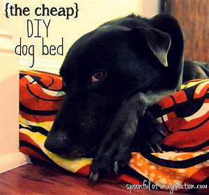 diy cheap dog bed spoonful of imagination With diy dog beds for large dogs
