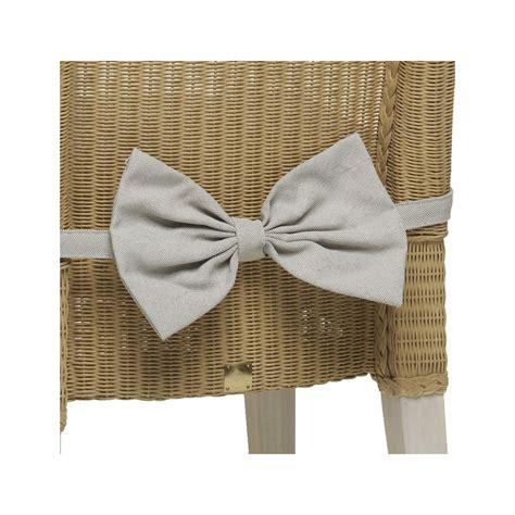 noeud pour chaise noeud en tissu écru pour décorer l 39 arrière des chaises en loom