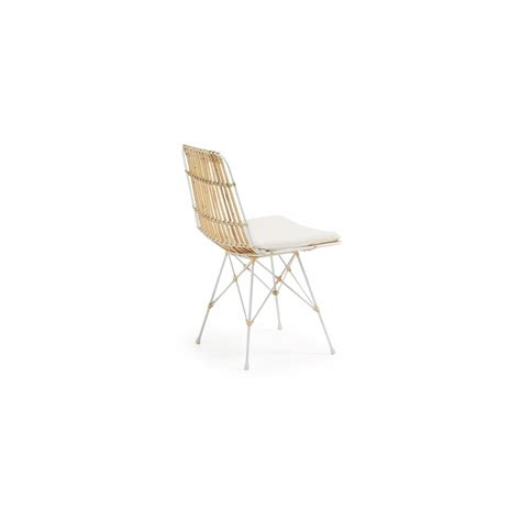 chaise blanc chaise en rotin scandinave by drawer