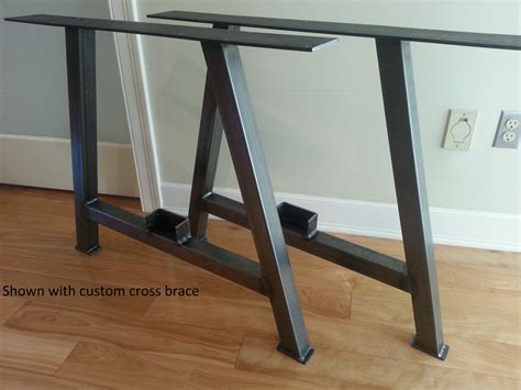 steel pipe desk legs a frame square tubing metal table legs multi by