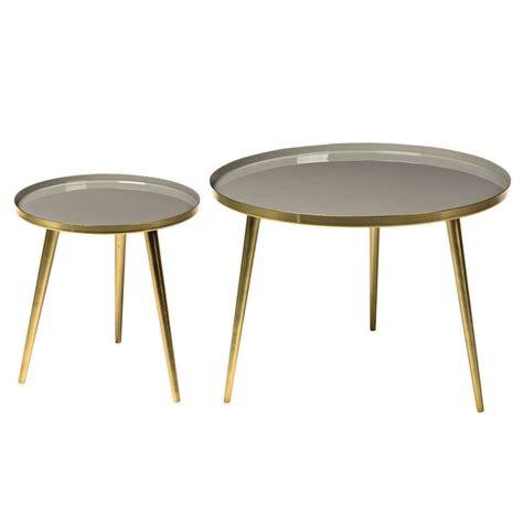 vintage round coffee table jelva by broste copenhagen