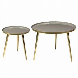 Table Basse Ronde Maison Du Monde : table basse ronde style vintage jelva broste copenhagen ~ Teatrodelosmanantiales.com Idées de Décoration