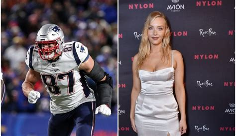 rob gronkowskis girlfriend dishes  life  work mode