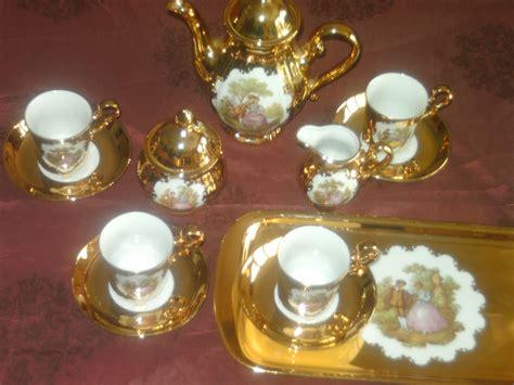 bavaria porzellan gold bavaria porzellan 22 karat gold mokkaservice mit kuchenplatte in manching sammlungen