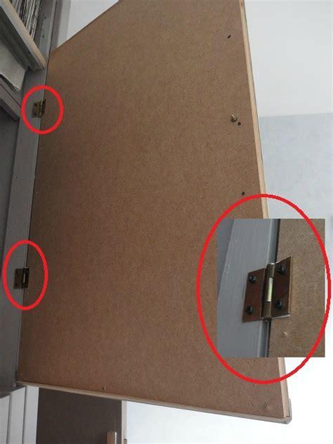 charniere de porte de placard transformation d un placard sans importance