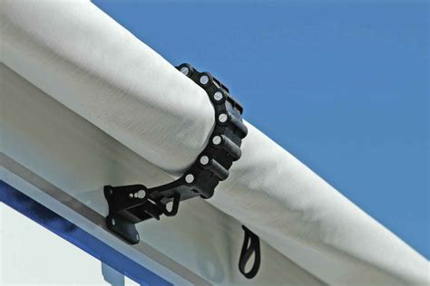 rv awning clamp black camco  awning accessories