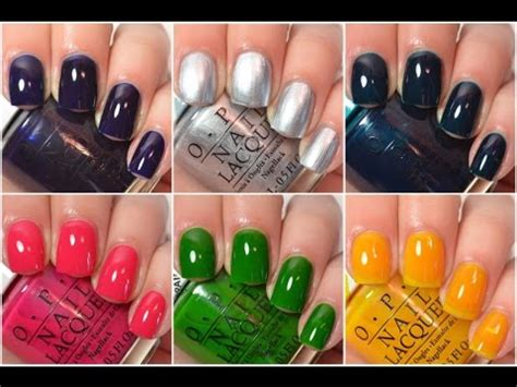 opi color paints swatch and review youtube