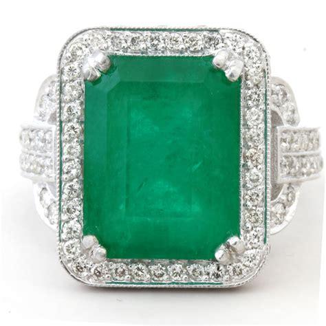 ctw emerald cut emerald diamonds antique style