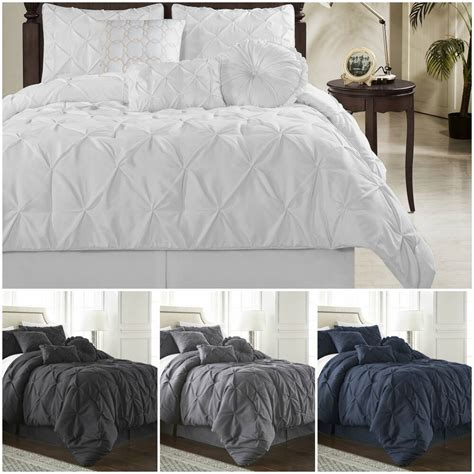 Pinch Pleat Duvet Cover by Chezmoi Collection Sydney 7 Pinch Pleat Pintuck