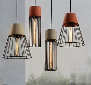 Lampe Industrial Style : retro cement design art cement pendant light vintage lampe ciment luminaria pendente industrial ~ Markanthonyermac.com Haus und Dekorationen